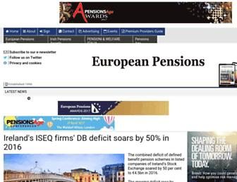 europeanpensions.net screenshot