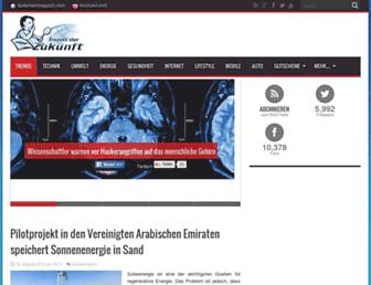 Main page screenshot of trendsderzukunft.de