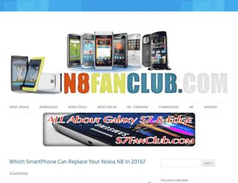 n8fanclub.com screenshot