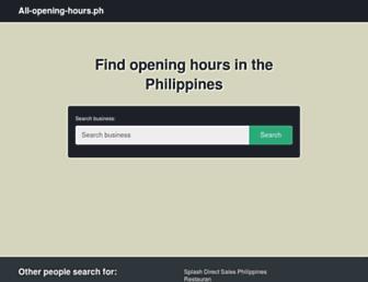 all-opening-hours.ph screenshot