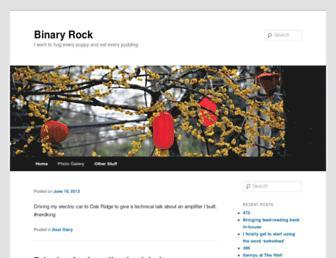 Main page screenshot of binrock.net