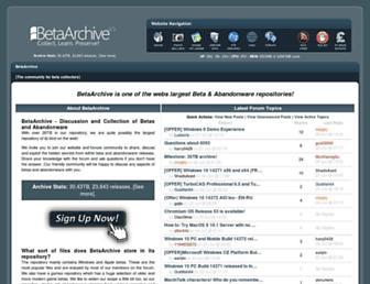 betaarchive.com screenshot