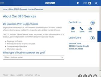 partners.geico.com screenshot