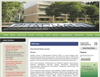Main page screenshot of pjps.pk