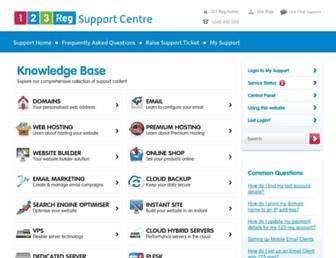 Main page screenshot of 123-support.co.uk