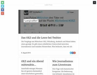 Main page screenshot of blog-cj.de