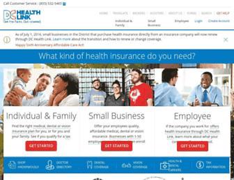 dchealthlink.com screenshot