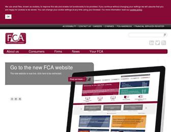 fca.org.uk screenshot