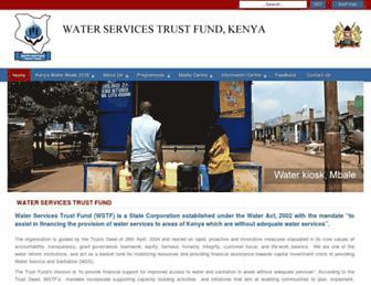 waterfund.go.ke screenshot