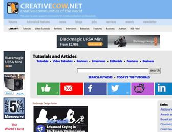 Main page screenshot of library.creativecow.net