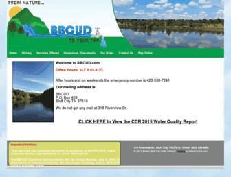 Main page screenshot of bbcud.net