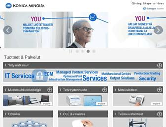 konicaminolta.fi screenshot