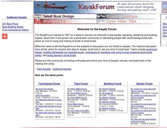 kayakforum.com screenshot