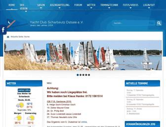 Main page screenshot of ycso.de