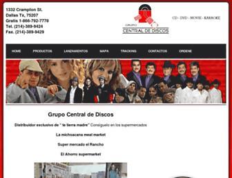 centraldediscosdallas.com screenshot