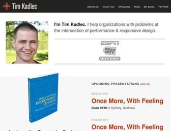 timkadlec.com screenshot