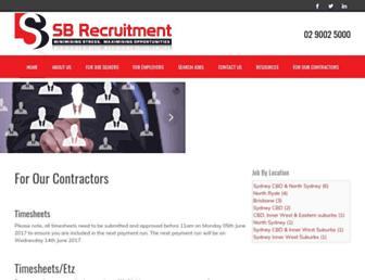 sbrecruitment.com screenshot