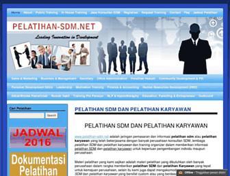 pelatihan-sdm.net screenshot