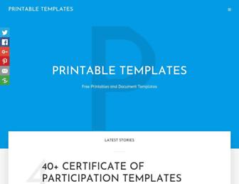 printabletemplates.com screenshot