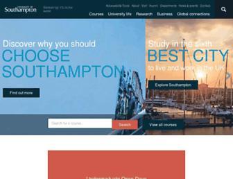 Screenshot for southampton.ac.uk