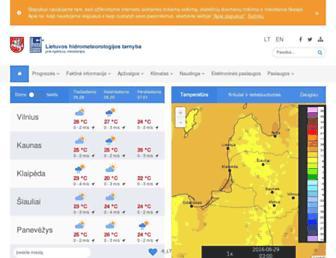 Main page screenshot of meteo.lt