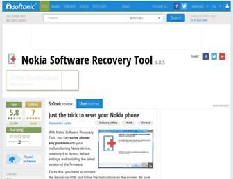 nokia-software-recovery-tool.en.softonic.com screenshot