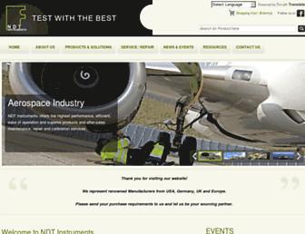 ndt-instruments.com screenshot