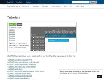 aspnet.daypilot.org screenshot
