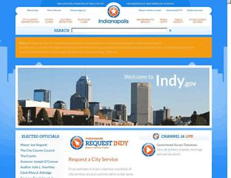 Main page screenshot of indygov.org
