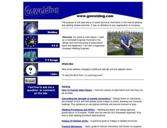 gowelding.com screenshot