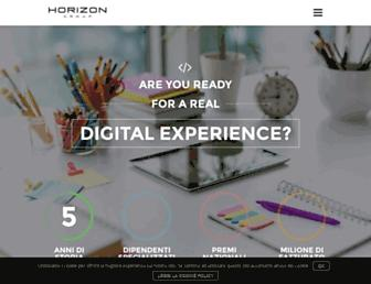 Main page screenshot of horizonadv.it