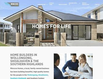 mincovehomes.com.au screenshot