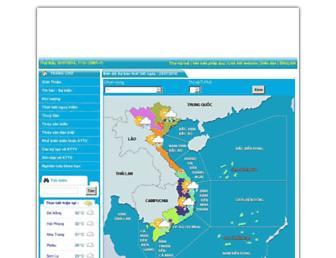 Main page screenshot of nchmf.gov.vn
