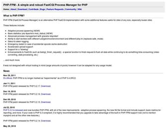 Thumbshot of Php-fpm.org