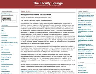 Main page screenshot of thefacultylounge.org