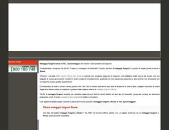 Main page screenshot of affitto-furgoni.info