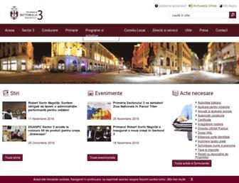 primarie3.ro screenshot