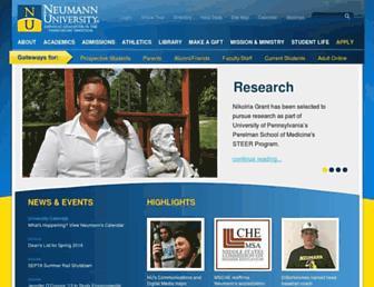 Main page screenshot of neumann.edu