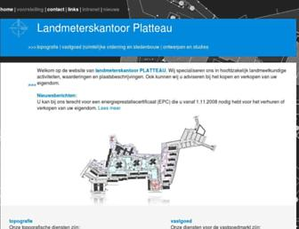 Main page screenshot of planex.be