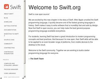 swift.org screenshot