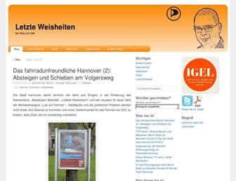 Main page screenshot of blog.hillbrecht.de