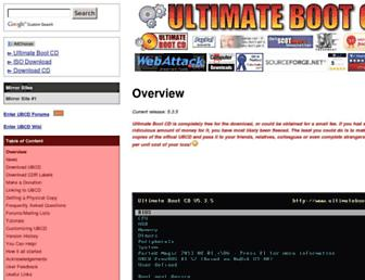 ultimatebootcd.com screenshot