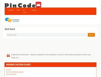 pin-code.org.in screenshot