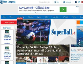 lampung.tribunnews.com screenshot