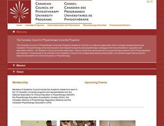 physiotherapyeducation.ca screenshot