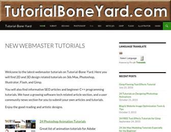 tutorialboneyard.com screenshot