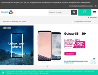 Main page screenshot of recyclage-mobiles.bouyguestelecom.fr