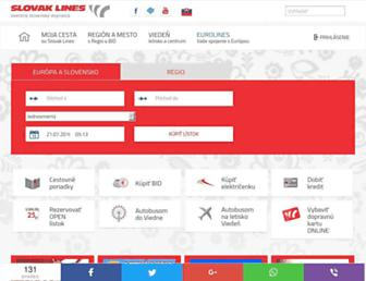 Main page screenshot of slovaklines.sk