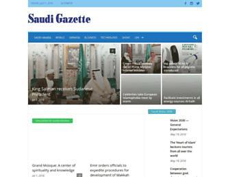 saudigazette.com.sa screenshot