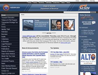 azdor.gov screenshot